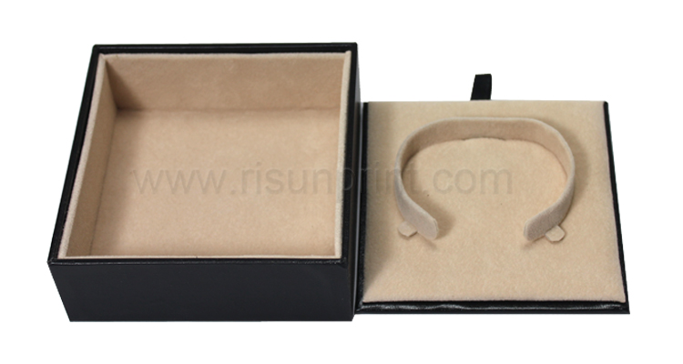 Braclet Black Leather Jewelry Box