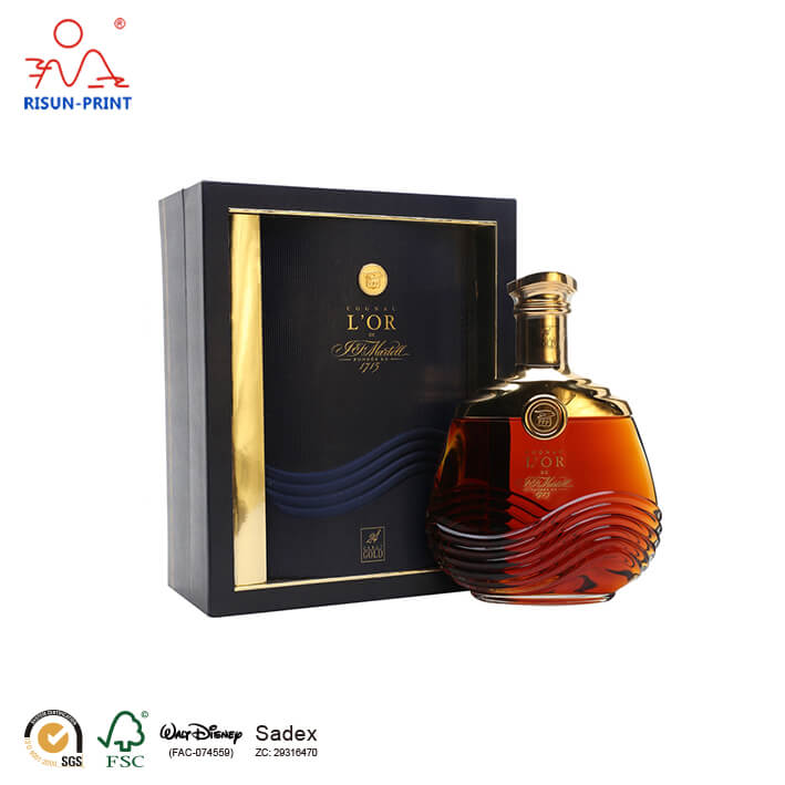 Cognac Decanter wine box packaging