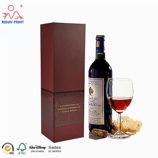 Folding packaging wine box