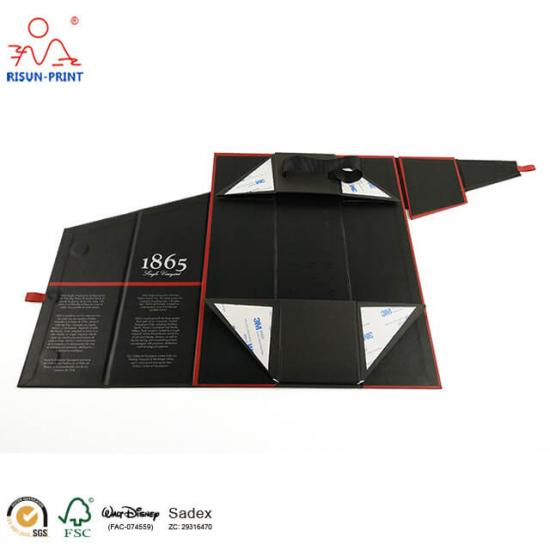 Black Cardboard Packaging Wine Box