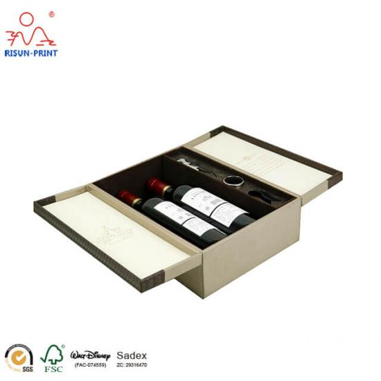 Double open wine box