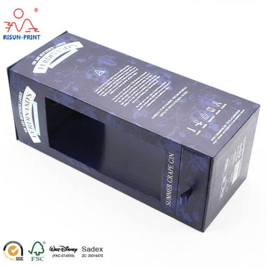 Rigid cardboard packaging wine box