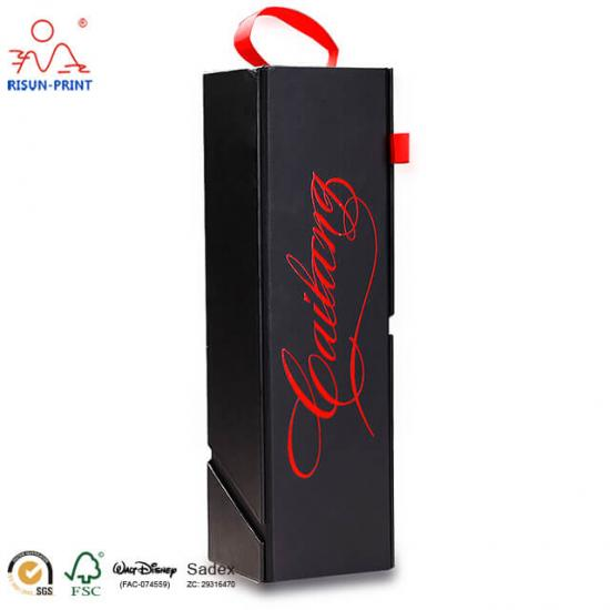 Collapsible Rigid Wine Box Black